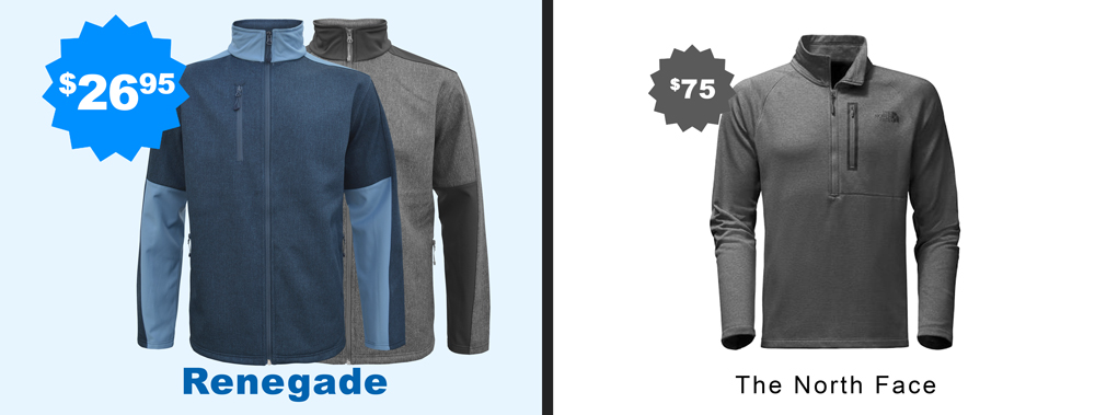 renegade vs the north face, soft shell men jacket, embroidery, wholesale, gray blue