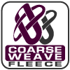 Renegade coarse weave fleece fabric logo, purple, pretzel, signature brand fabric