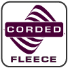renegade corded fleece fabric logo, waves, purple, square, signature fabric