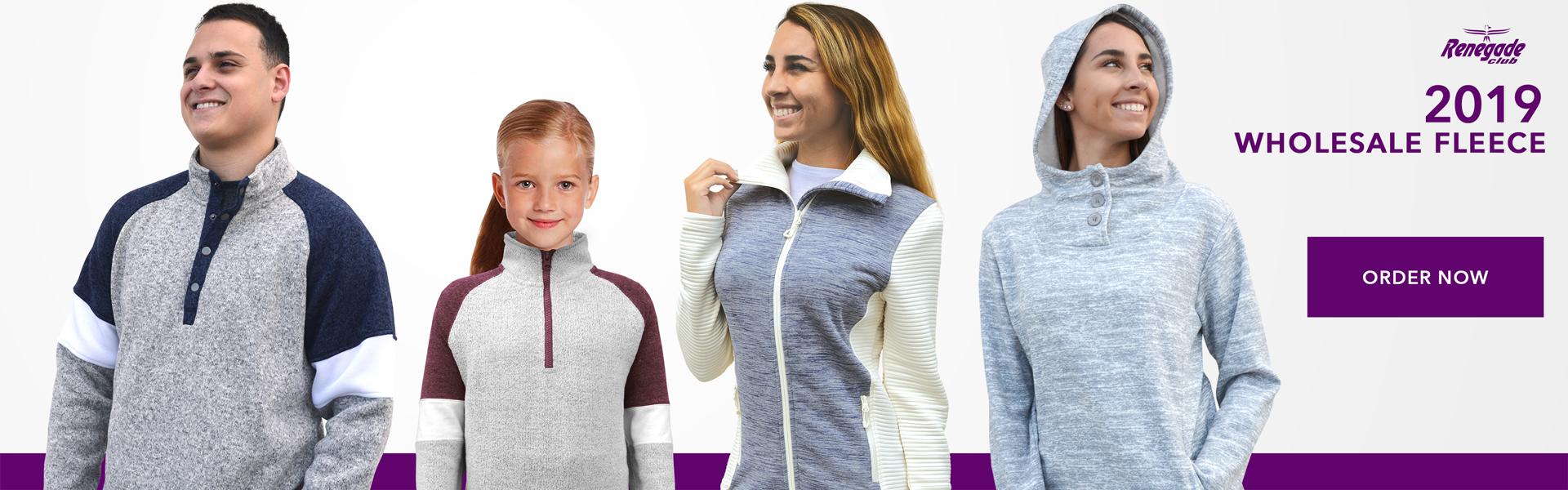renegade club 2019 wholesale fleece line, women, men, hoodies, fleece jackets, kids, order now, gray