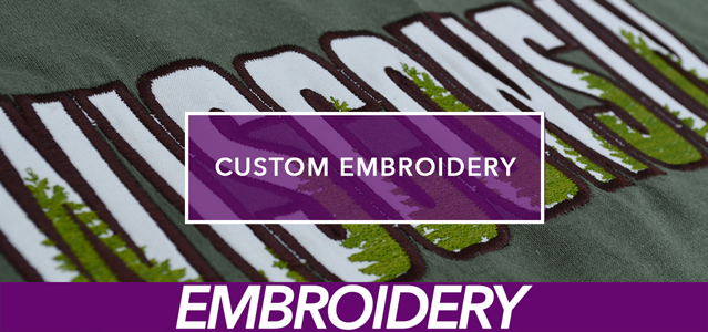 Custom Embroidery Info Banner