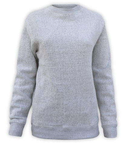 nantucket womens crewneck sweater for embroidery, blanks wholesale renegade club gray