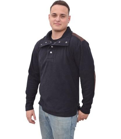 mens corduroy corded fleece snaps sweatshirt blanks for embroidery