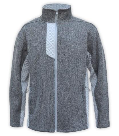 new coarse weave fleece, mens jacket, 3d fleece, gray renegade club blank for embroidery