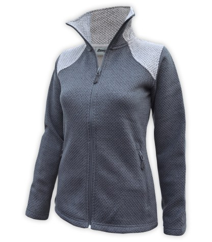 collar honeycomb fleece full zip sweater wholesale blank for embroidery renegade club