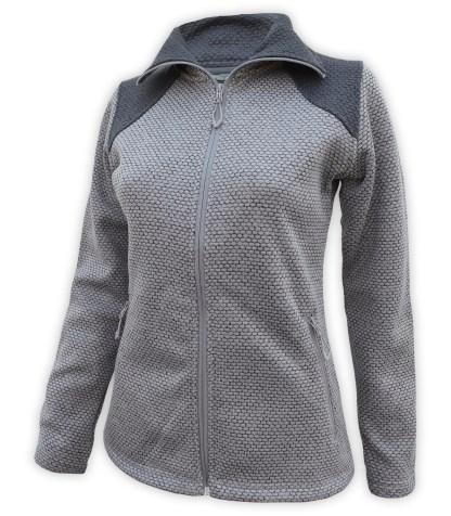 honeycomb fleece full zip sweater wholesale blank for embroidery collar