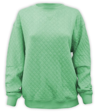 green quilted resort crewneck, blanks for embroidery renegade club