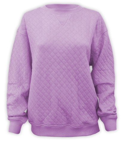 quilted resort crewneck, blanks for embroidery renegade club purple