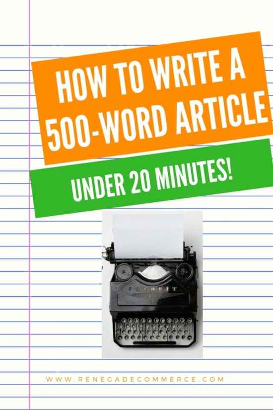how to write a 500-word article