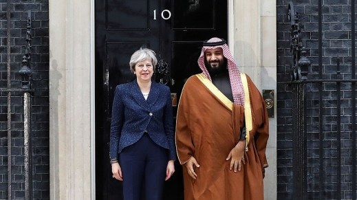 Saudi Prince Mohammed bin Salman paid a visit to Number 10.