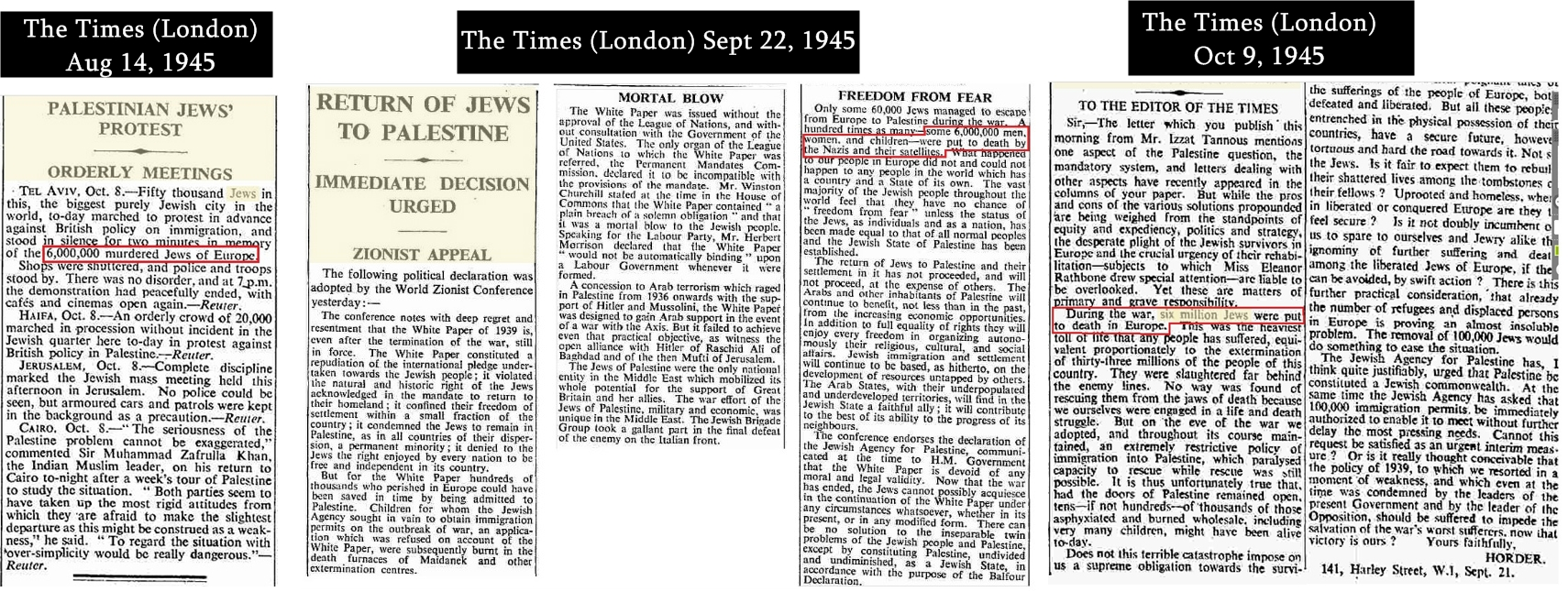 1945LondonTimesSixMillionClippings