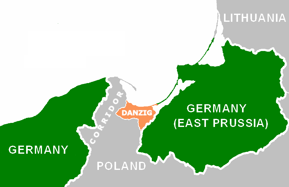 Hitler wanted back the German city of Danzig and an autobahn through the Danzig corridor connecting the German mainland to East Prussia. Poland, under British/Jewish direction, refused to acquiesce to Hitler's modest demands.