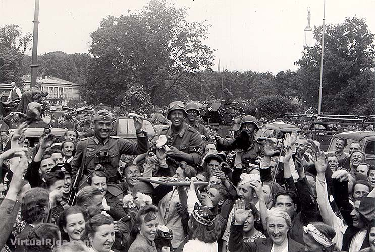 Troops in Riga, Latvia