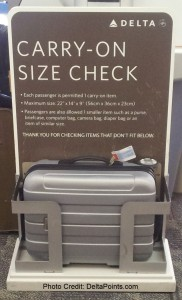 delta air lines carry-on size check box old sizewise 22-14-9