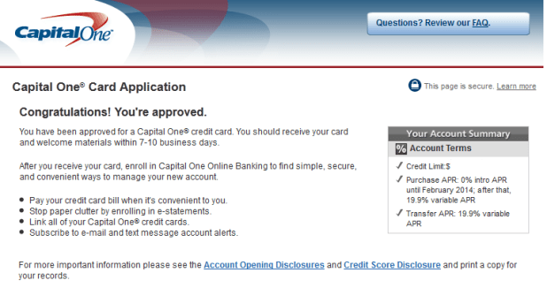 Capital one business credit card application status online capital one card instant approval delta points blog rens reheart Gallery