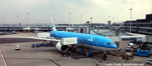 klm airplane ams amsterdam airport