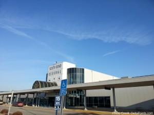 SBN south Bend Airport delta points mileage run