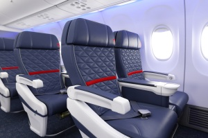 First class in a Delta Air Lines 737.