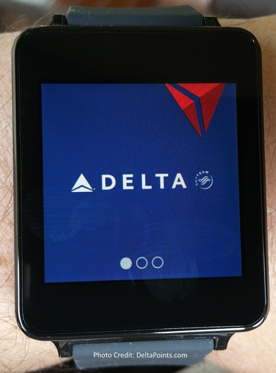 fly delta app on LG G watch android wear delta points ...