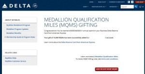 gift of mqms from delta points