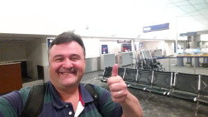 Rene in SBN after mainline delta jet flight from DTW