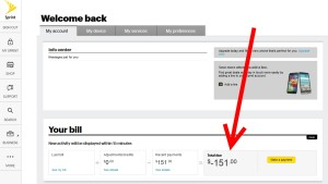 over payment credit balance for my sprint bill for amex credit
