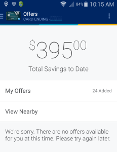 savings from amex for offers in app and online (2)