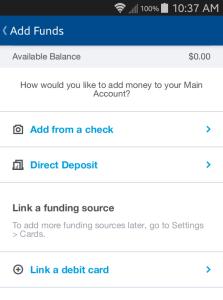 Screenshot of depsit checks from bluebird app