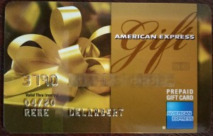 amex gift card with name on it