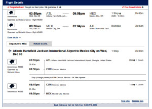 Here is the CheapOAir Booking Screen