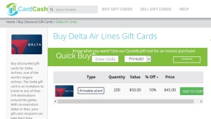 buy delta gift cards 10 percent off