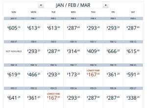 LAX-BOS Calendar