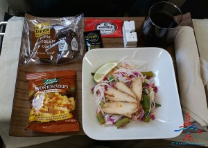 delta 1st class asian chicken salad review renespoints blog