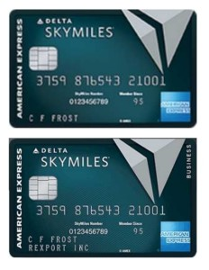 delta amex reserve personal and biz cards
