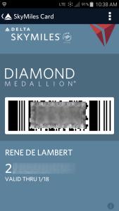 my delta diamond medallion digital card fly delta app renes poitns blog