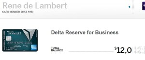 screen shot of my delta amex spend so far 2016