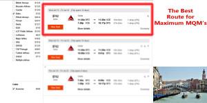 San Francisco to Venice SFO-VCE Delta Air Lines Mega Mileage Run KAYAK