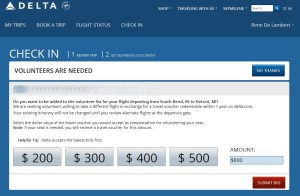 delta bump offer for oversold flight