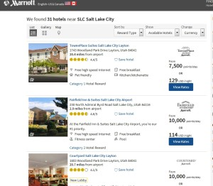 places to stay in slc cheap on marriott points