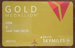 real delta gold medallion card renes points blog