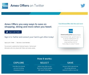 amex sync offers on twitter