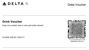 drink voucher printed from Delta-com renespoints blog