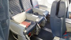 leg room front row comfort plus delta 757-200 renespoints blog