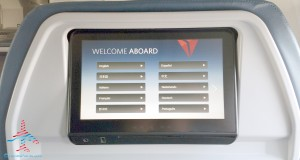 tilt screen ife delta 757-200 slim line 1st class seats renespoints blog