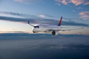 Delta Bombardier CS100 Series jet PR release