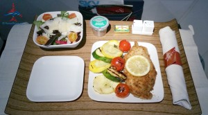 delta air lines lemon chicken 1st class meal renespoints blog review