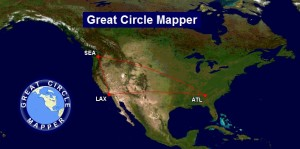 great circle mapper atl-lax-sea-atl