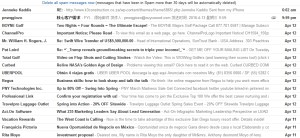 screen shot of some spam mail in my gmail