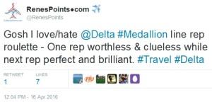 tweet about medallion line renespoints