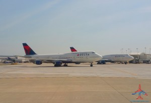 Delta 747s parked in DTW Detroit airport renespoints blog